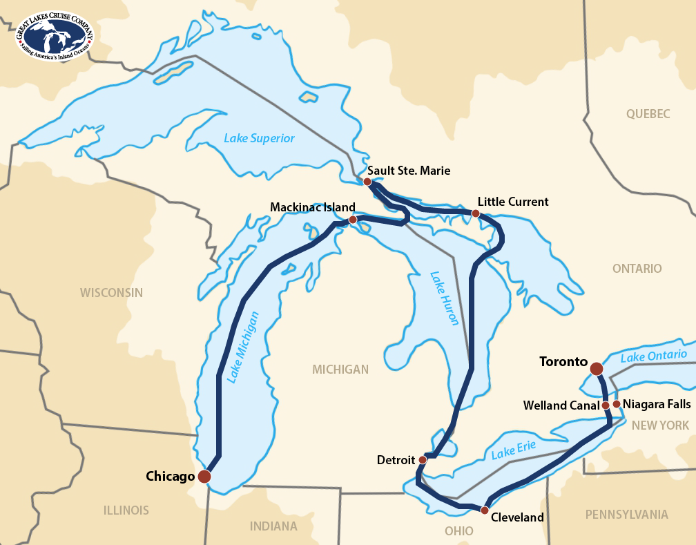 Victory Great Lakes Grand Discovery Map